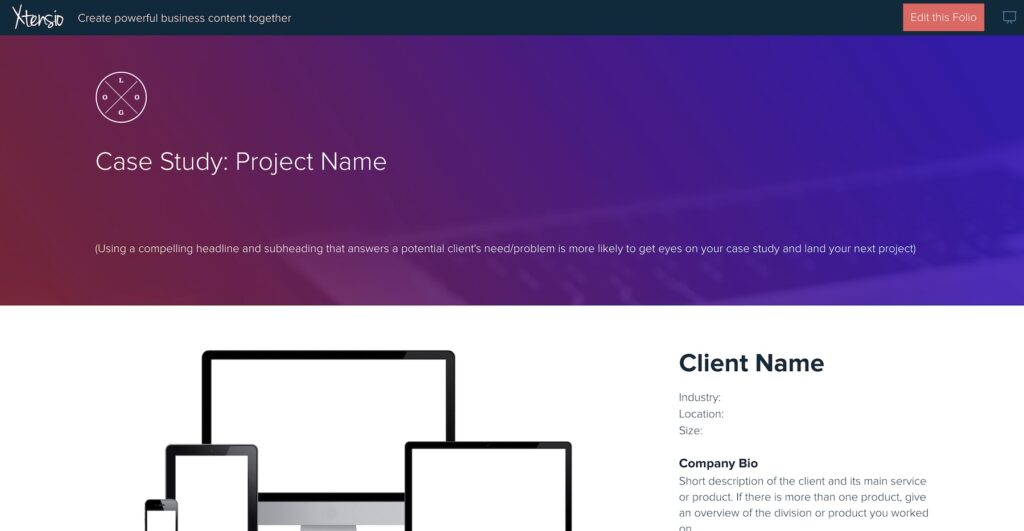 Xtensio case study template