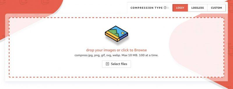 maak je afbeeldingen kleiner met een compressor